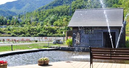 五天山公園の写真:水車小屋